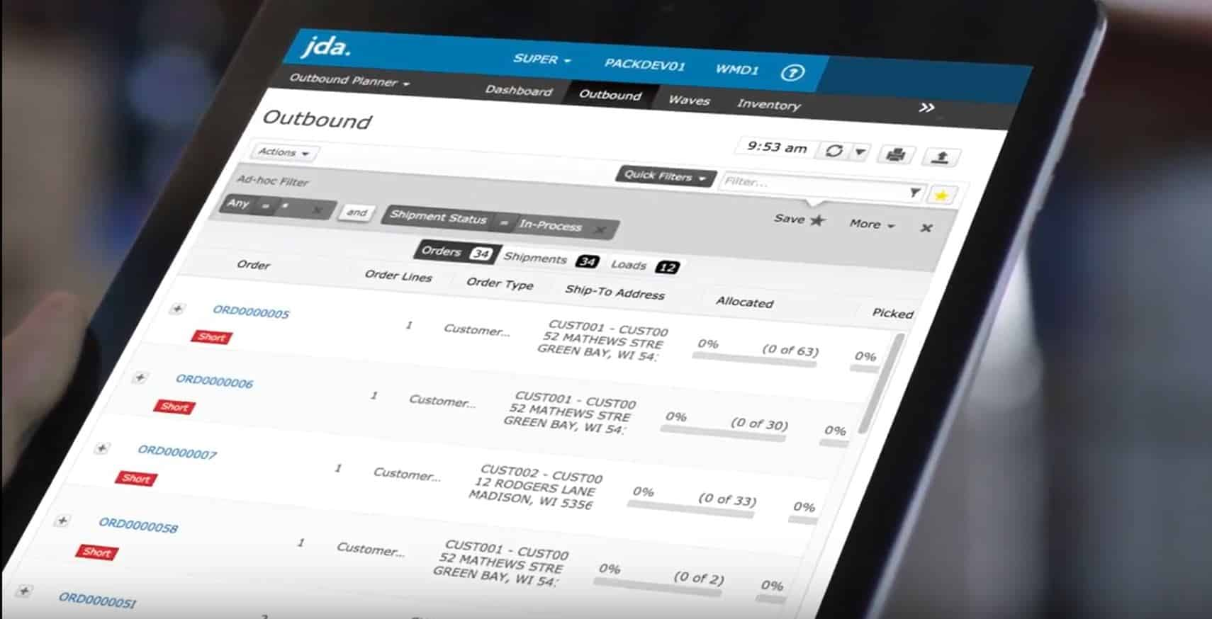 Accelogix Jda Redprairie Warehouse Inventory Management